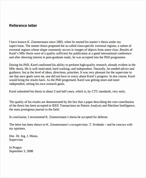 7 Job Reference Letter Templates Free Sample Example