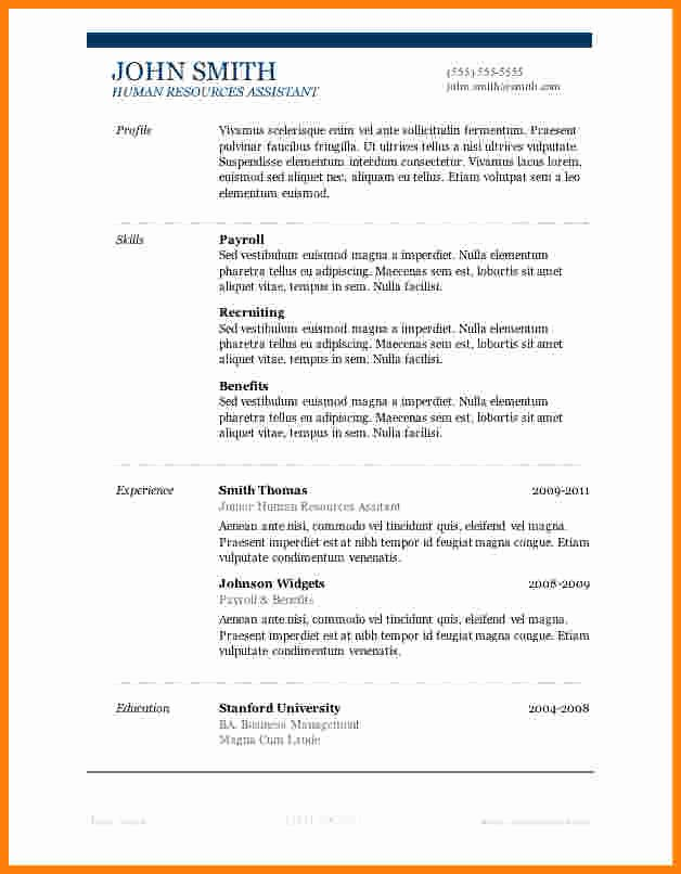 7 Job Resume format Ms Word