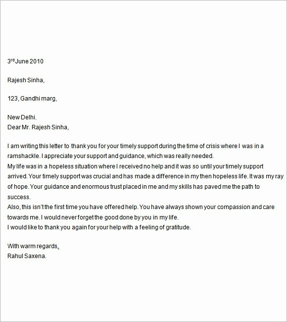 7 Letter Of Support Templates – Free Samples Examples