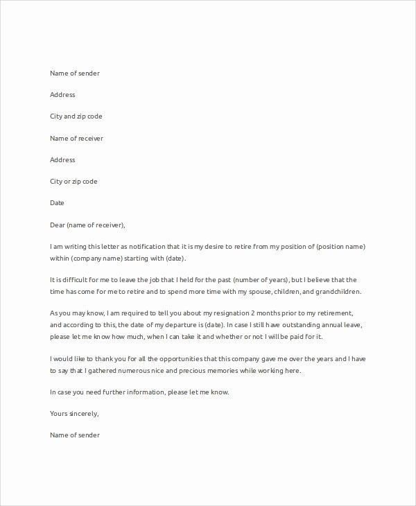 7 Letter Resignation Samples