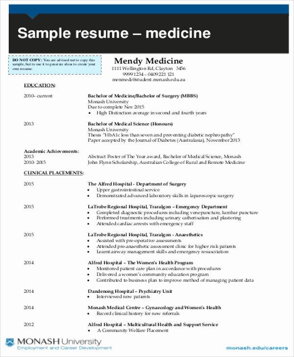 7 Medical Student Cv Samples