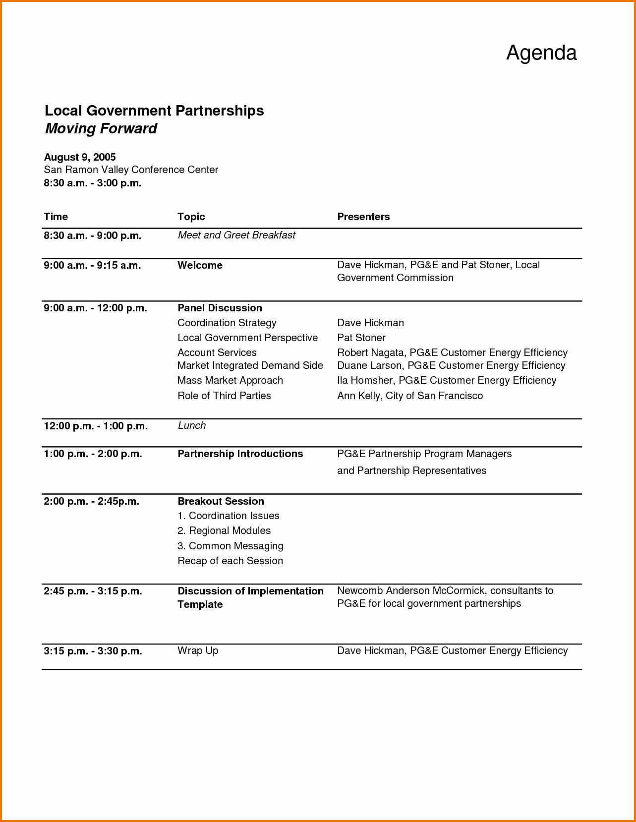 7 meeting agenda template word