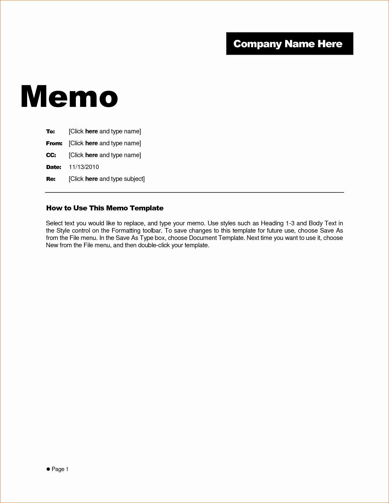 7 Memo Template Word