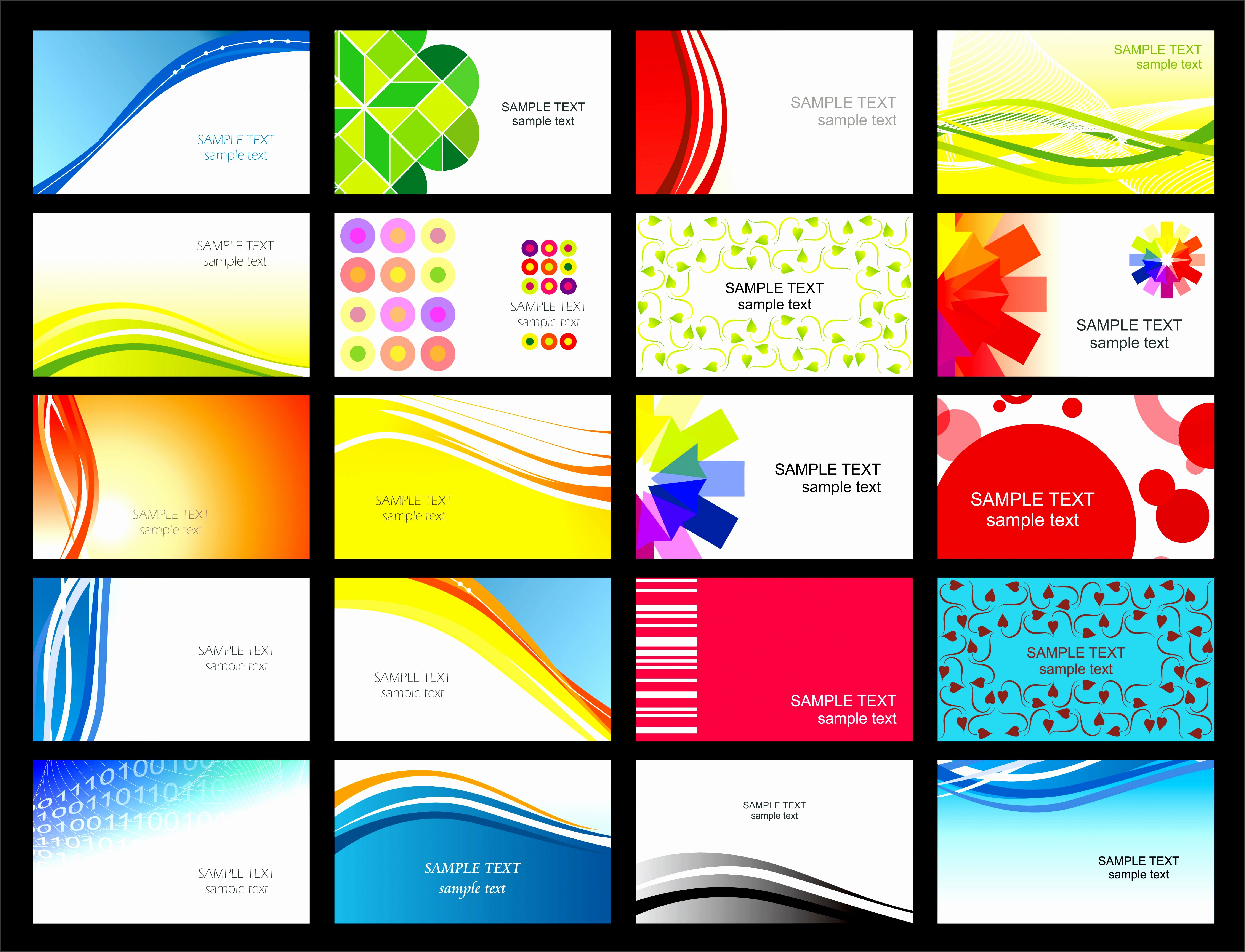 7 Microsoft Business Card Templates Free