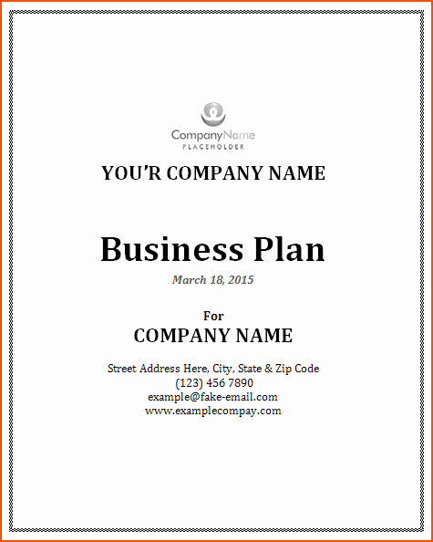 7 Microsoft Word Business Plan Template Bookletemplate
