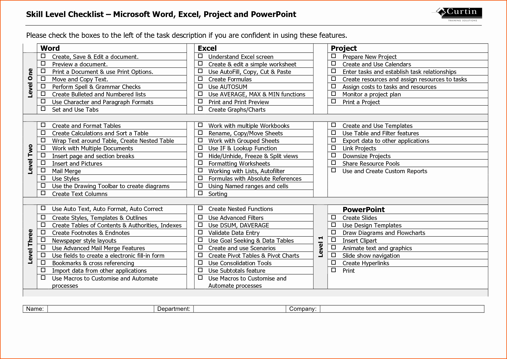 7 Microsoft Word Checklist Template Bookletemplate