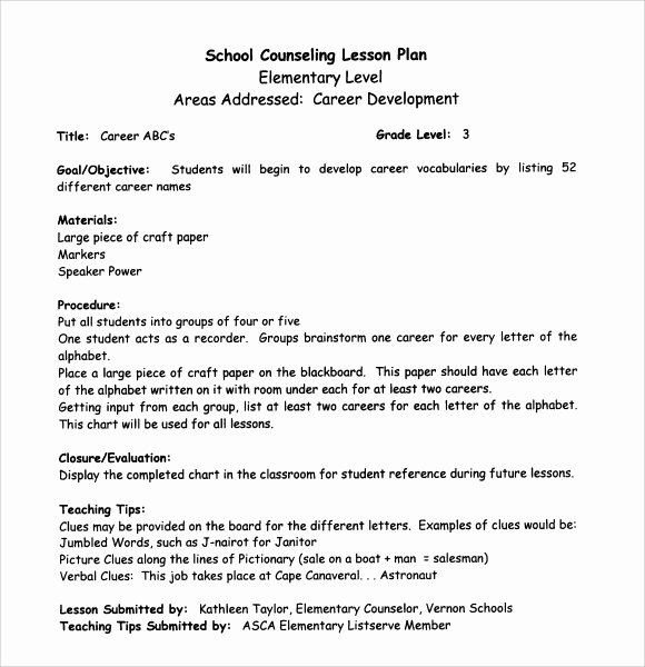 7 Middle School Lesson Plan Templates Download for Free