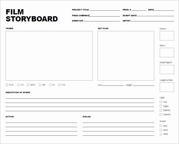 7 Movie Storyboard Templates – Doc Pdf