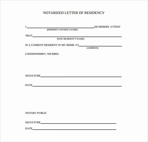 7 Notarized Letter Template Doc Pdf