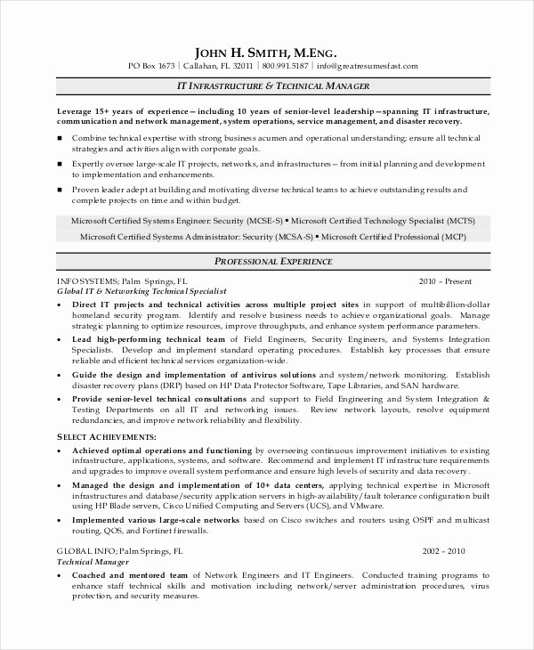7 Operations Manager Resume Free Sample Example