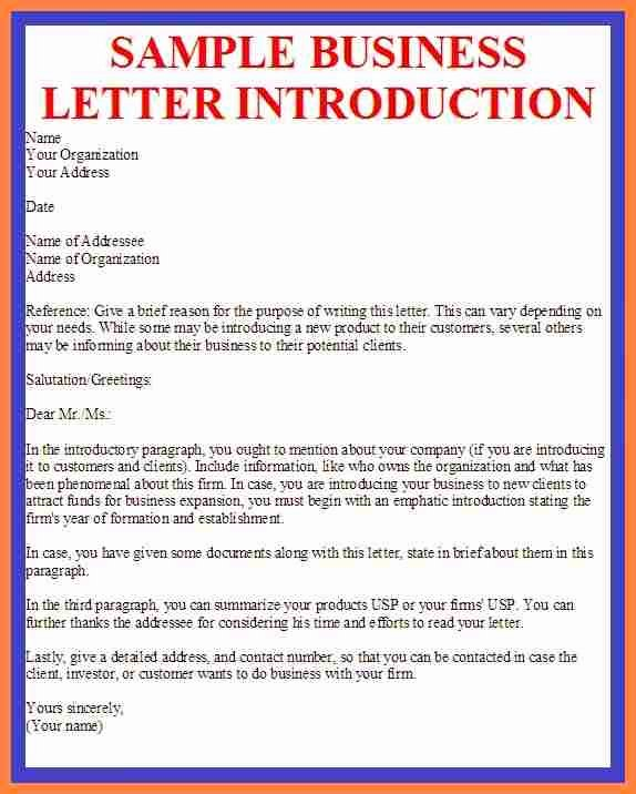 7 Pany Business Introduction Letter Sample