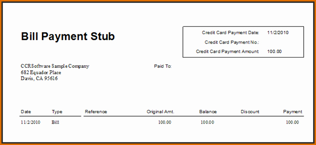 7 Pay Stub Template Pdf
