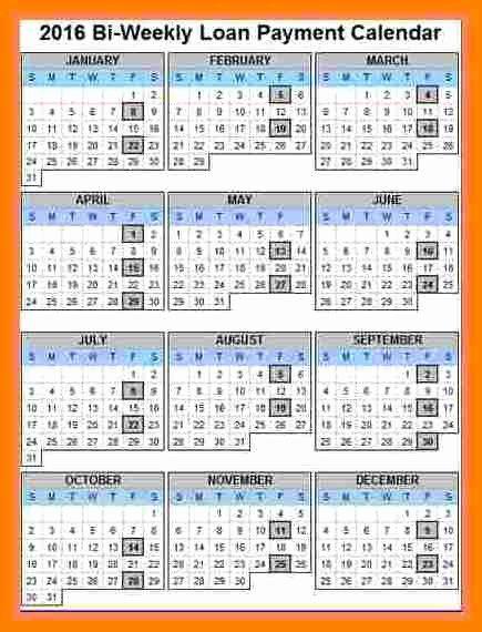 7 Payroll Calendar 2018 Template