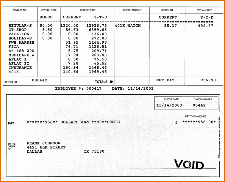7 Payroll Check Template