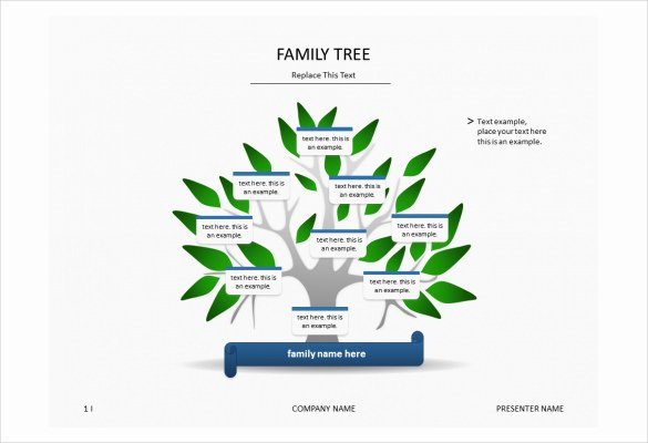 7 Powerpoint Family Tree Templates
