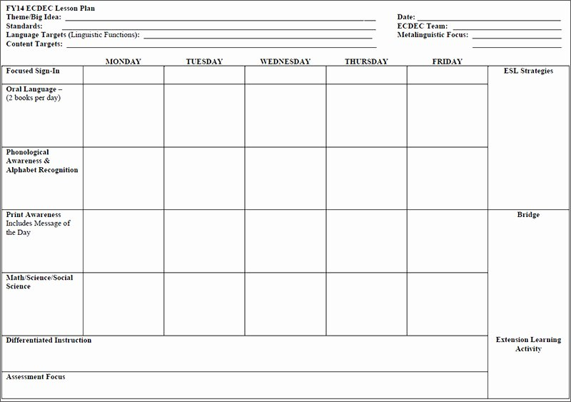 7 Preschool Lesson Template Free Word Excel Pdf formats