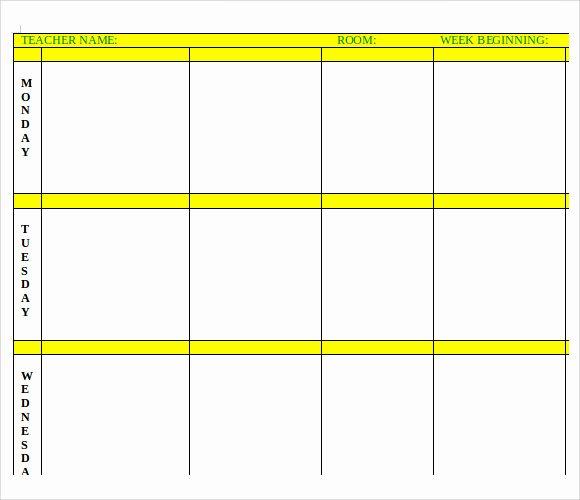 7 Printable Lesson Plan Templates to Download