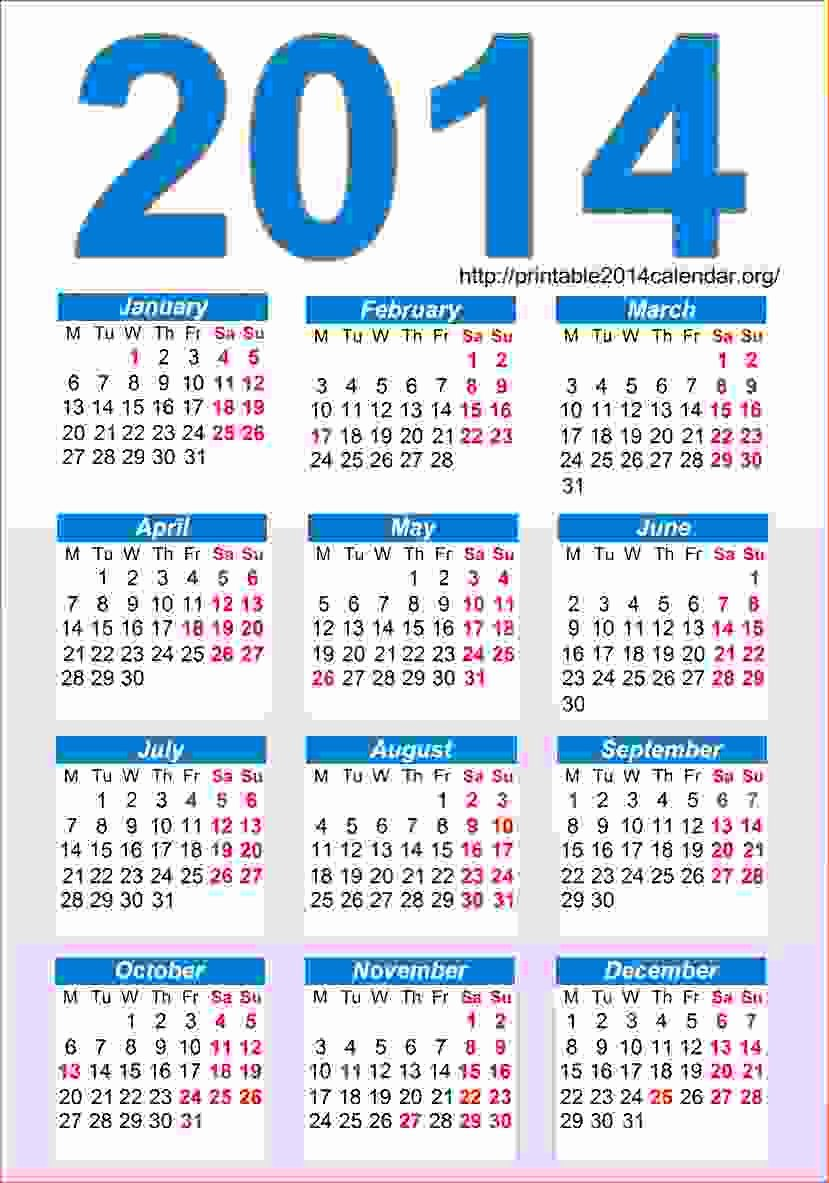 7 Printable Pocket Calendar