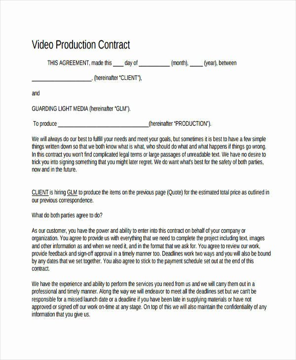 7 Production Contract Samples & Templates