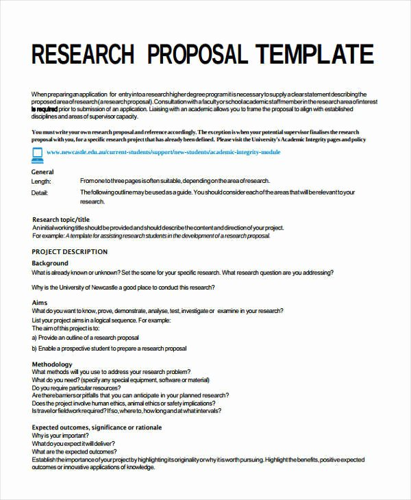 7 Project Proposal Templates – Examples In Word Pdf