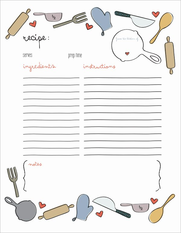 7 Recipe Card Templates