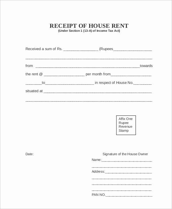7 Rent Receipt Samples