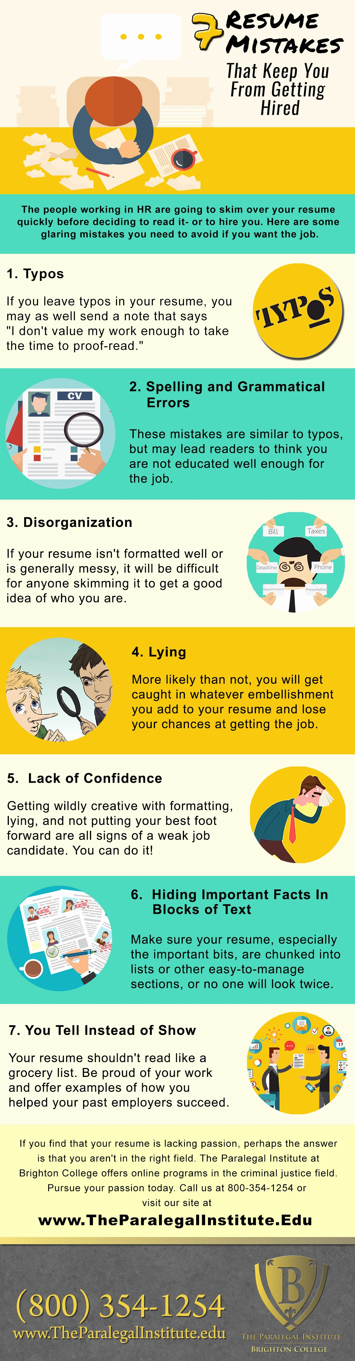 7 Resume Mistakes that Keep You From Getting Hired