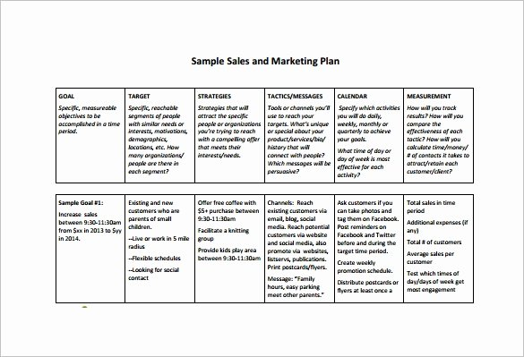 7 Sales Plan Template Pdf Doc