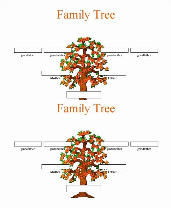 7 Sample 3 Generation Family Tree Templates