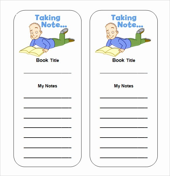 7 Sample Blank Bookmarks