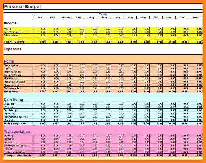 7 Sample Bud Spreadsheet Excel
