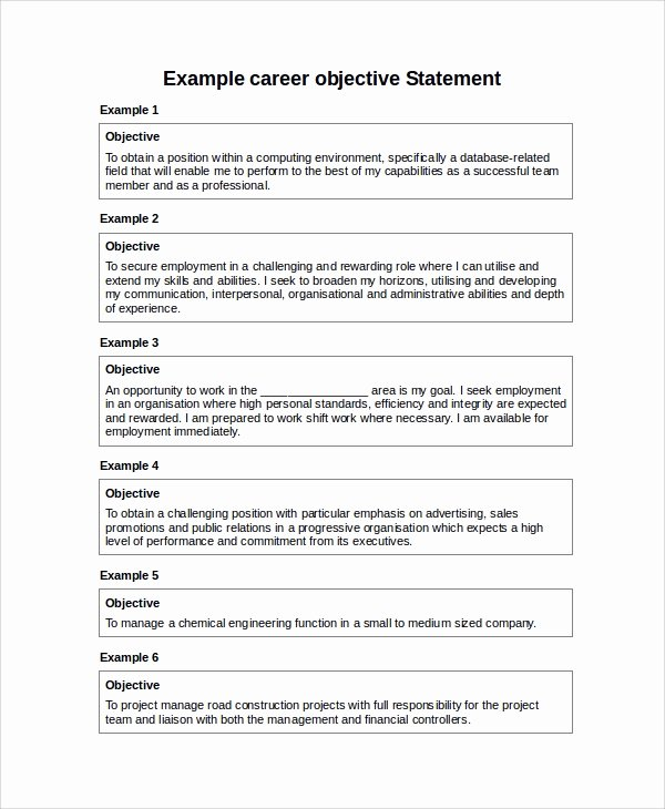 7 Sample Career Objective Statements