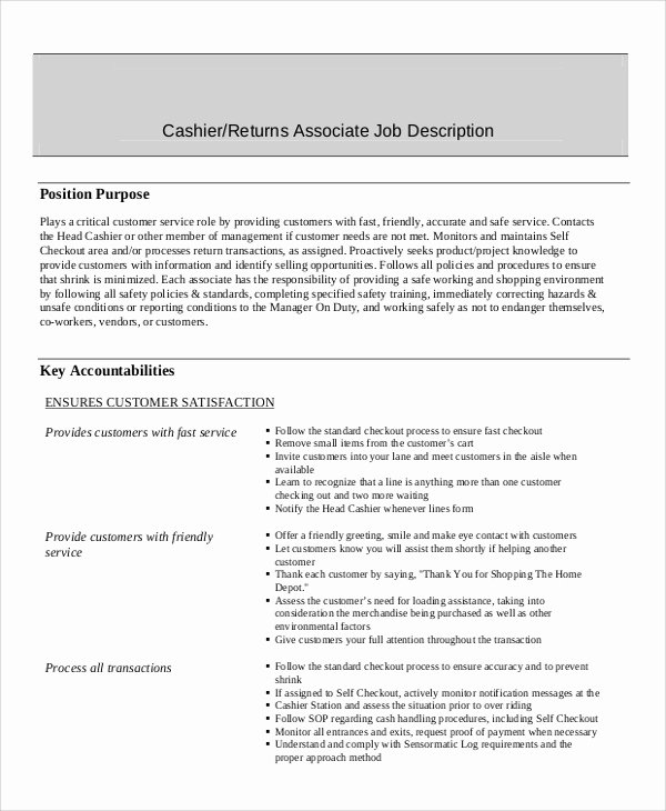 7 Sample Cashier Resumes