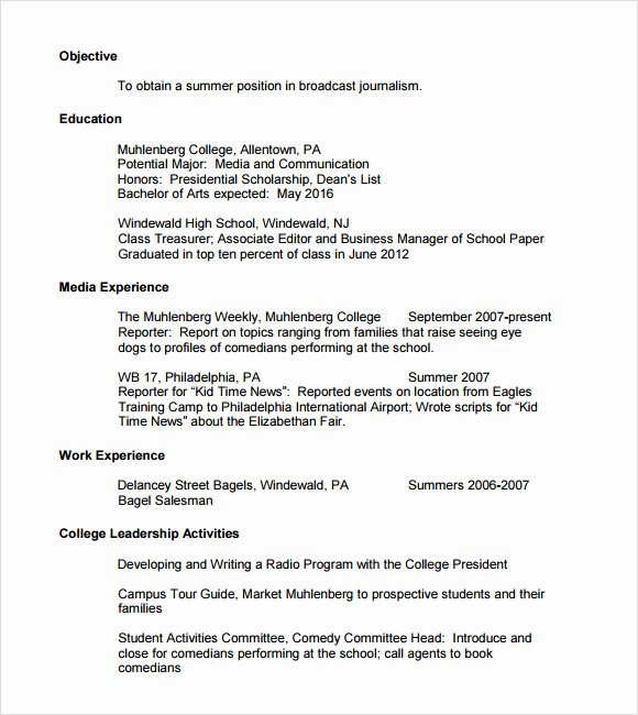 7 Sample College Resumes