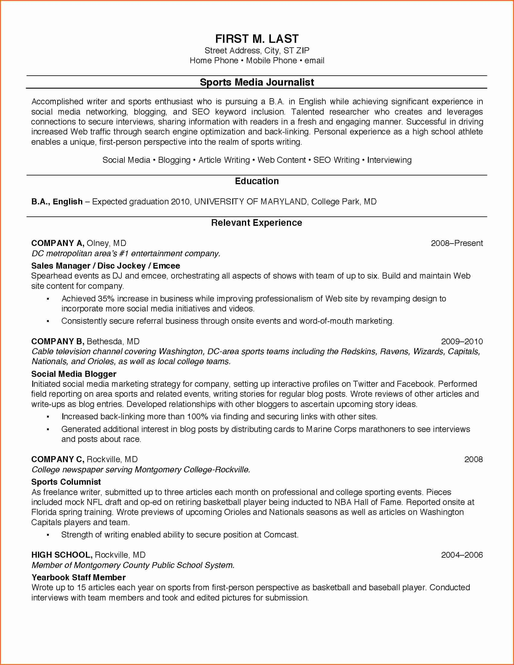 7 Sample College Student Resumes Bud Template Letter