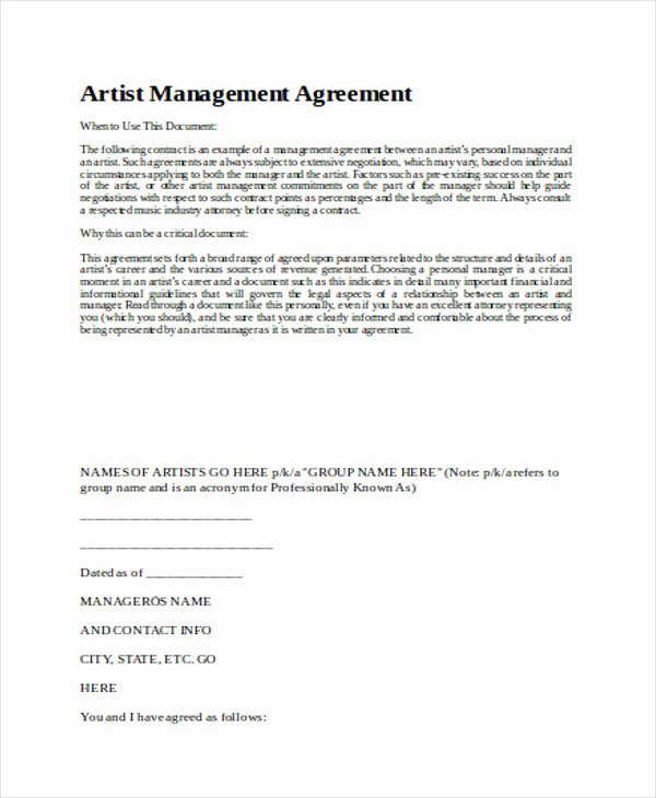 7 Sample Contract Management Agreements
