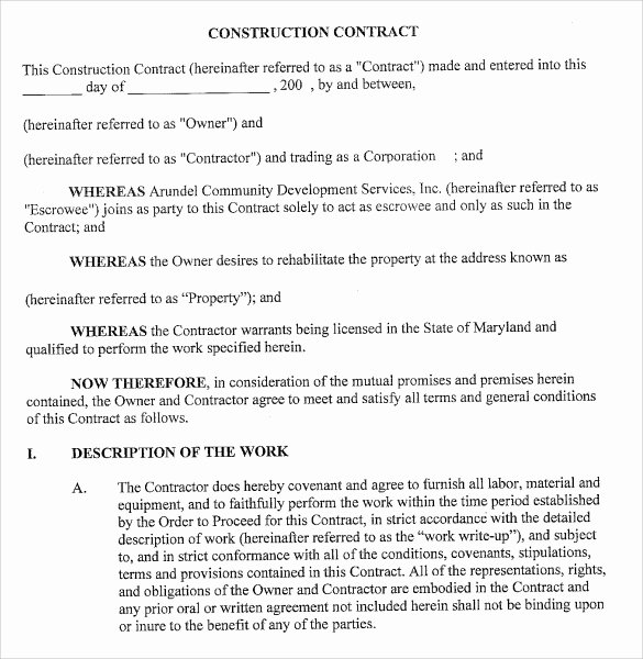 7 Sample Contractor Proposal Templates Download for Free