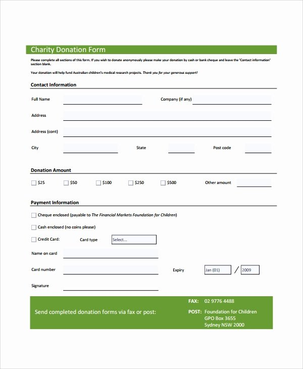 7 Sample Donation forms