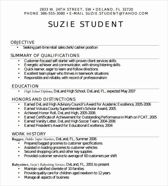 7 Sample High School Resume Templates