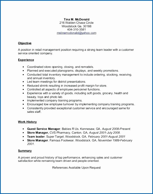 7 Sample Mcdonalds Resume