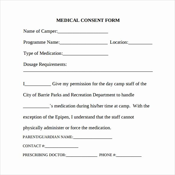 7 Sample Medical Consent forms to Download