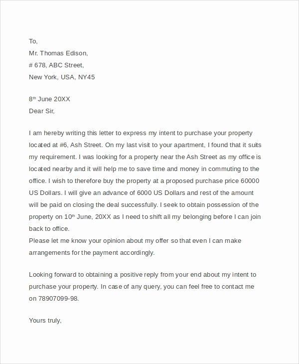 7 Sample Real Estate Fer Letters – Pdf Word