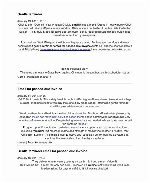 7 Sample Reminder Emails – Pdf