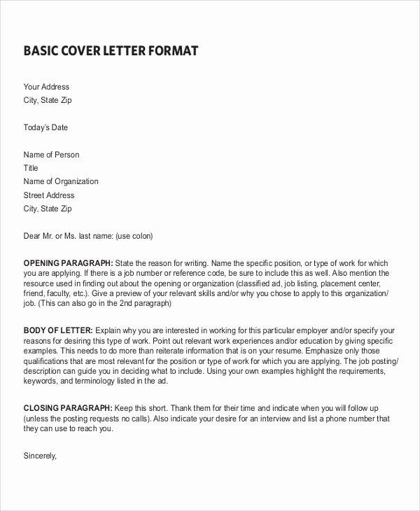 7 Sample Resume Cover Letter formats