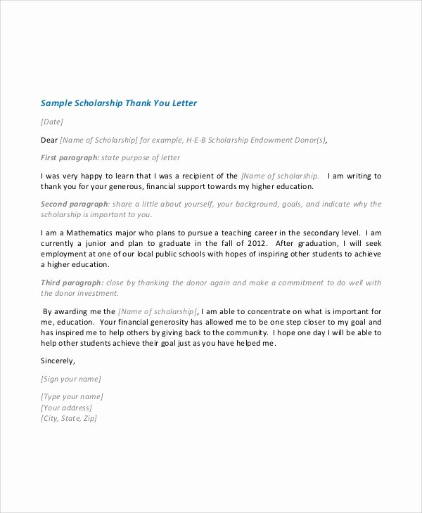 7 Sample Scholarship Acceptance Letters