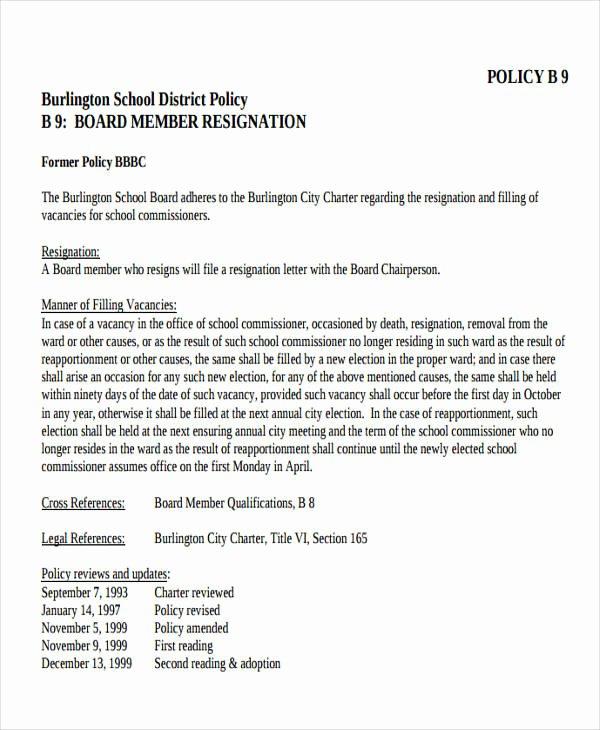 7 Sample School Resignation Letters