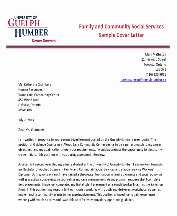 7 Sample social Worker Cover Letters