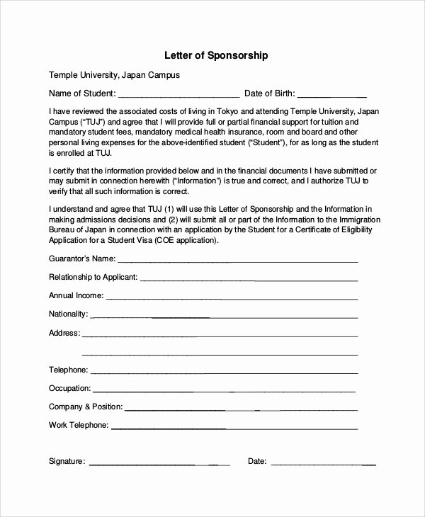7 Sample Sponsorship Request Letters