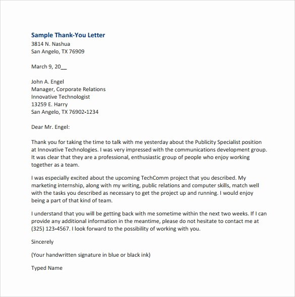 7 Sample Thank You for Your Business Letters – Samples