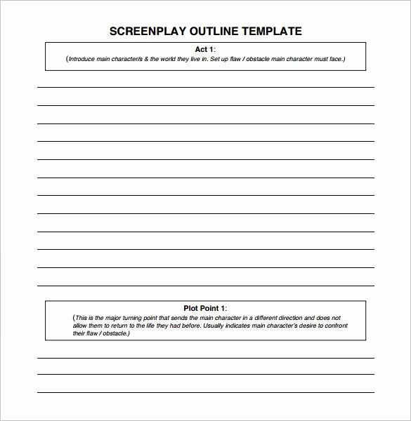 7 Screenplay Outline Templates Doc Excel Pdf